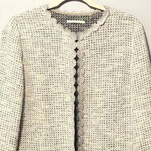 TAHARI Tweed Duster Jacket Coat